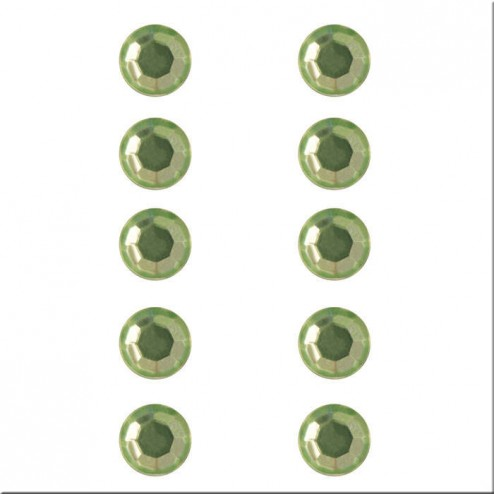 Strass Adhesivos diamantes verde claro (5 mm)