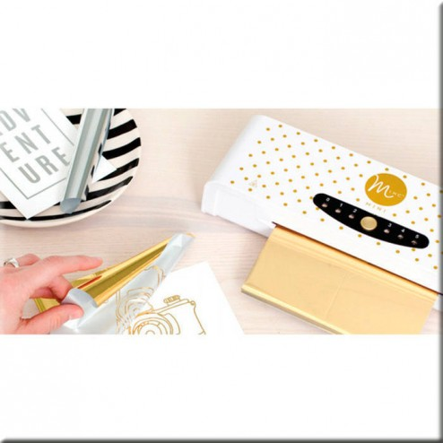 Kit Mini Minc Metallic Foil Applicator - Heidi Swapp (V.Europea) - ejemplo funcionamiento