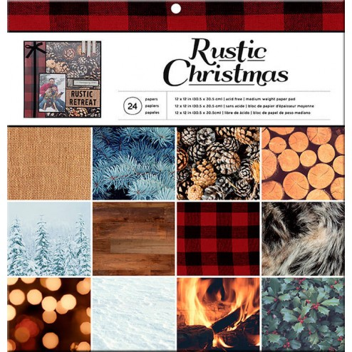 Papeles Scrapbooking Rustic Christmas (30x30)