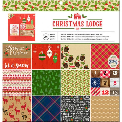 Papeles Scrapbooking Christmas Lodge
