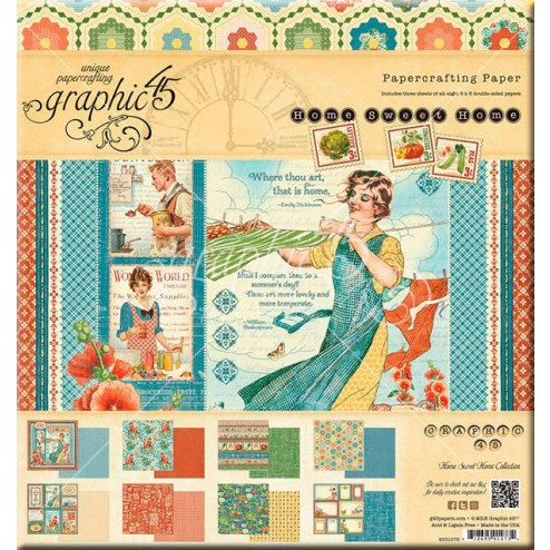 Papeles Scrapbooking - Home Sweet Home (20x20)