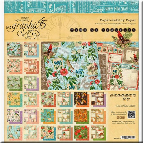 Papeles Scrapbooking - Time To Flourish