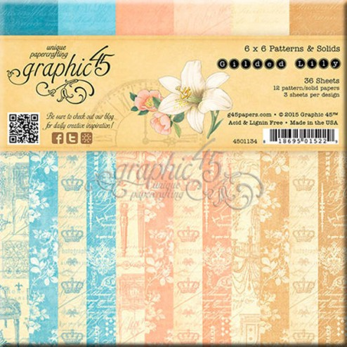 Papeles Scrapbooking - Gilded Lily (15 x 15)