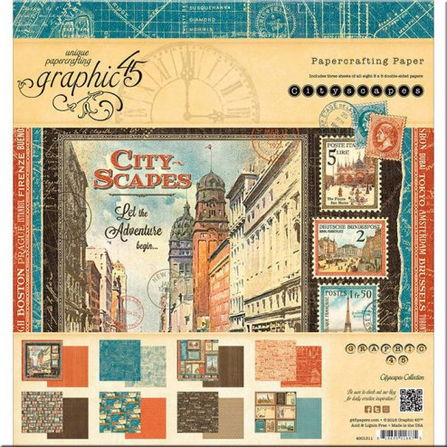 Papeles Scrapbooking City Scapes (20x20)