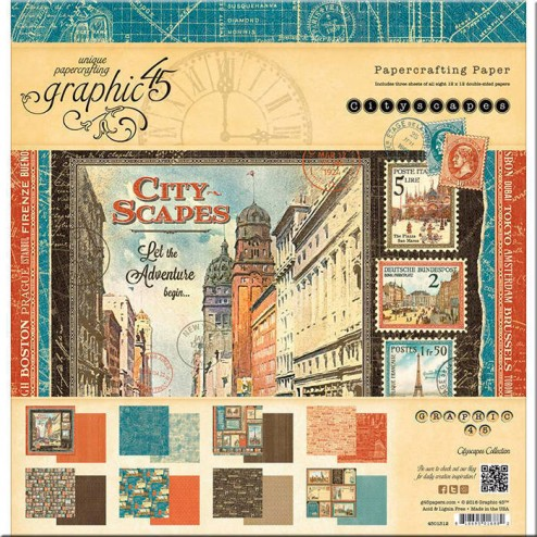 Papeles Scrapbooking City Scapes (30x30)