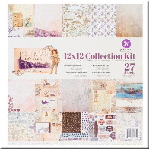 Kit Colección Scrapbooking French Riviera (30x30)