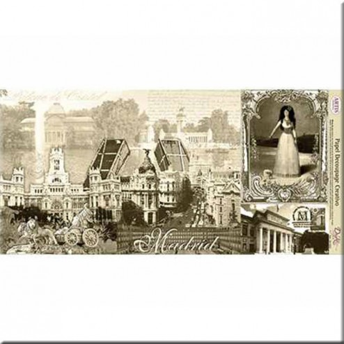 Papel Decoupage Dayka Madrid