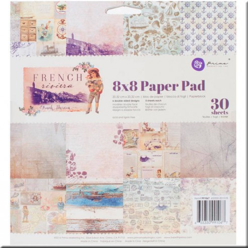 Papeles Scrapbooking French Riviera (20x20)