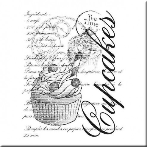 Sello de Madera - Cupcake Collage