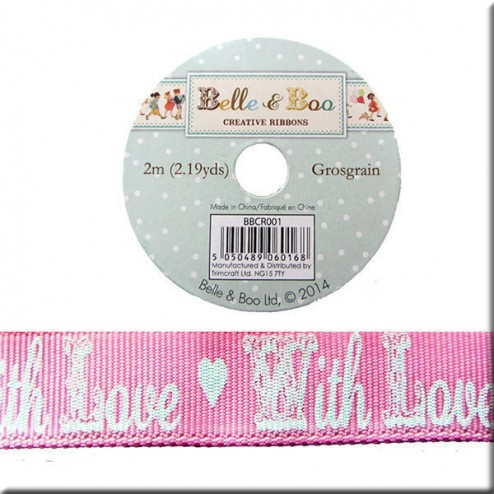 Cinta de Grosgrain - Rosa With Love Belle & Boo