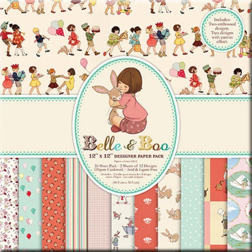 Papeles Scrapbooking - Belle & Boo (30x30)