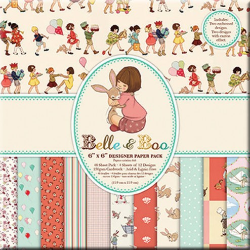 Papeles Scrapbooking - Belle & Boo (20x20)