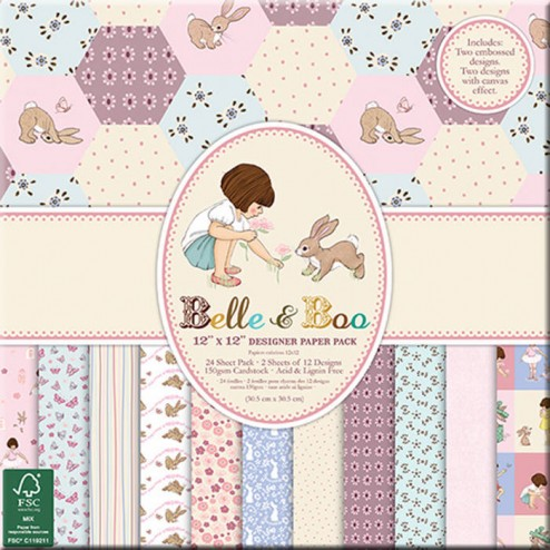 Papeles Scrapbooking Belle & Boo (30x30)