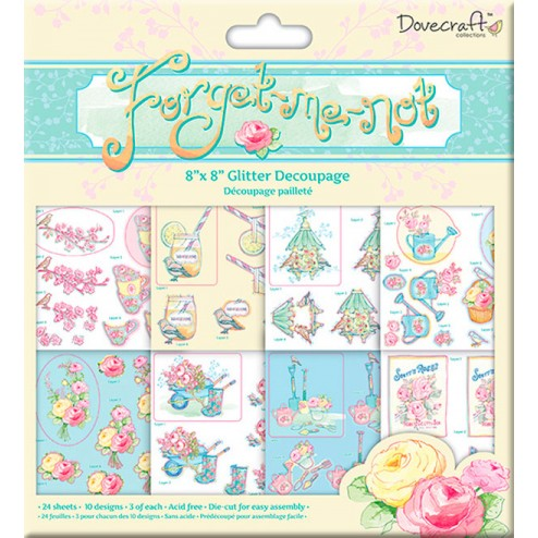 Block papeles precortados - Dovecraft Forget Me Not