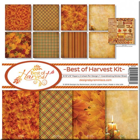 Set Papeles y Adhesivos Best of Harvest (30 x 30)