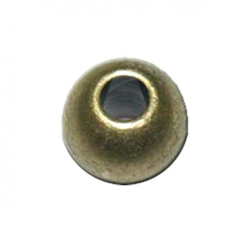 Bola de metal color oro viejo (5x6 mm) - 10 ud
