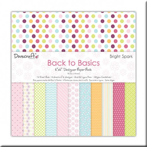Papeles Scrapbooking - Back to Basic Bright Spark (15x15)