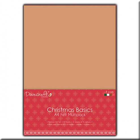 Pack Multicolor (A4) Fieltro acrílico - Christmas Basics