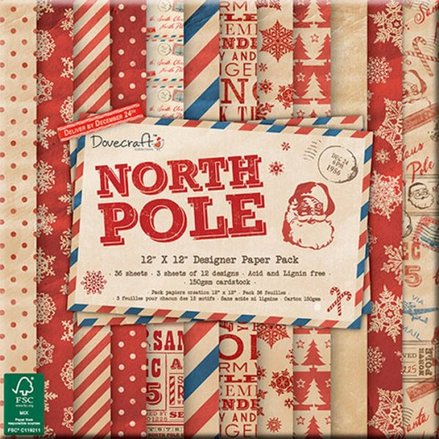 Papeles Scrapbooking - North Pole (30 x 30)