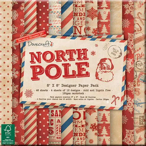 Papeles Scrapbooking - North Pole (20 x 20)