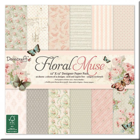 Papeles Scrapbooking - Floral Muse (30 x 30)