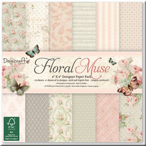 Papeles Scrapbooking - Floral Muse (15 x 15)