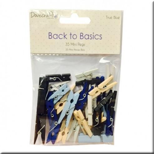 Pinzas de madera - Back to Basic True Blue