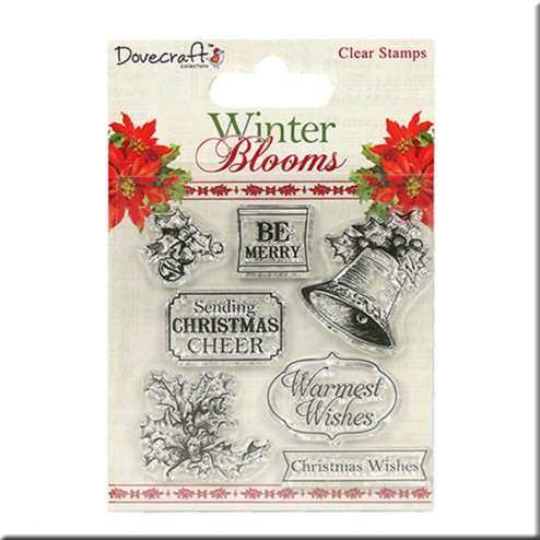 Sellos Holly and Bells Winter Blooms