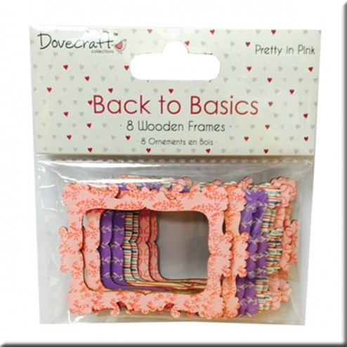 Marcos de madera - Back to Basic Pretty in Pink