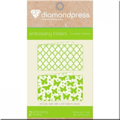 Carpetas Embossing Butterfly and Lattice Diamond Press