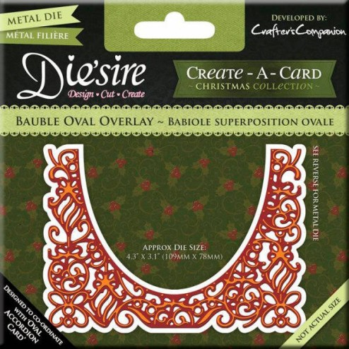 Troquel Die'sire - Bauble Oval Overlay