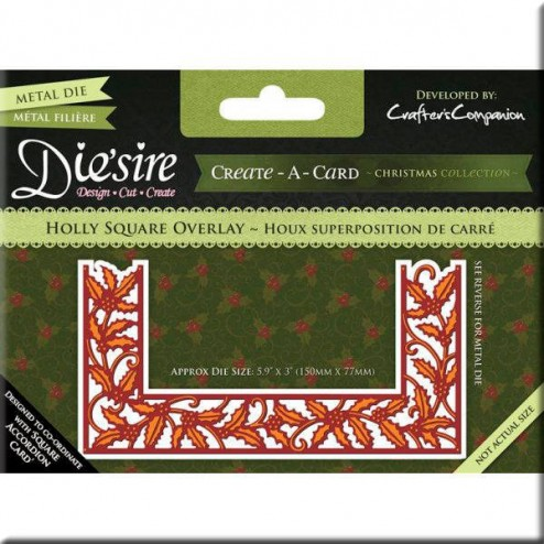 Troquel Die'sire - Holly Square Overlay