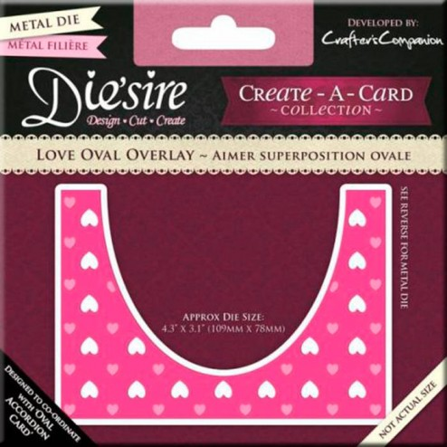 Troquel Die'sire - Love Oval Overlay