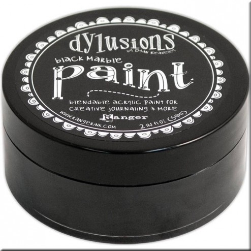 Dylusions Paint Black Marble
