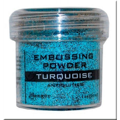 Polvo Embossing - Turquoise