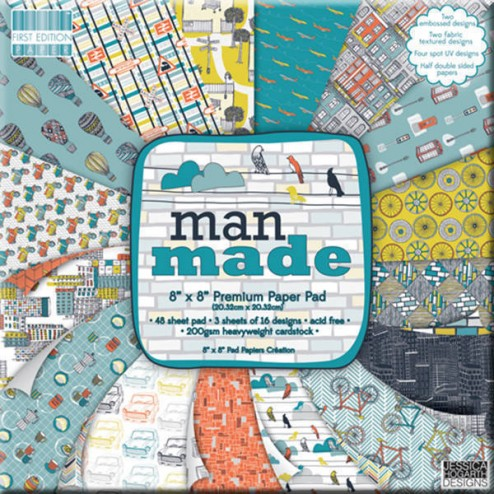 Papeles Scrapbooking - Man Made (20x20)