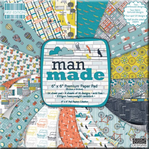 Papeles Scrapbooking - Man Made (15x15)