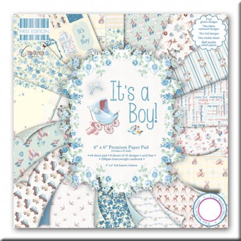 Papel Scrapbooking - It's a Boy! (15 x 15)