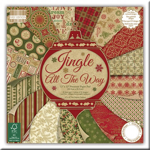 Papeles Scrapbooking – Jingle All The Way (30 x 30)