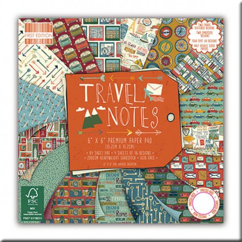 Papeles Scrapbooking -Travel Notes (15 x 15)