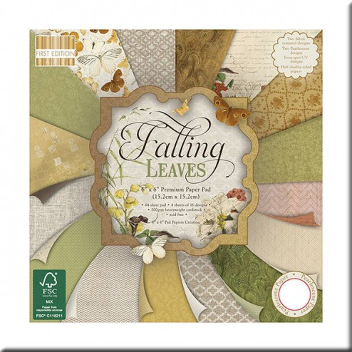 Papeles Scrapbooking - Falling Leaves (15x15)