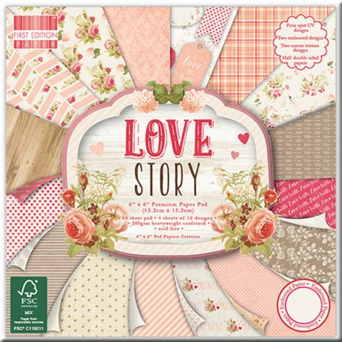 Papel Scrapbooking - Love Story (15 x 15)