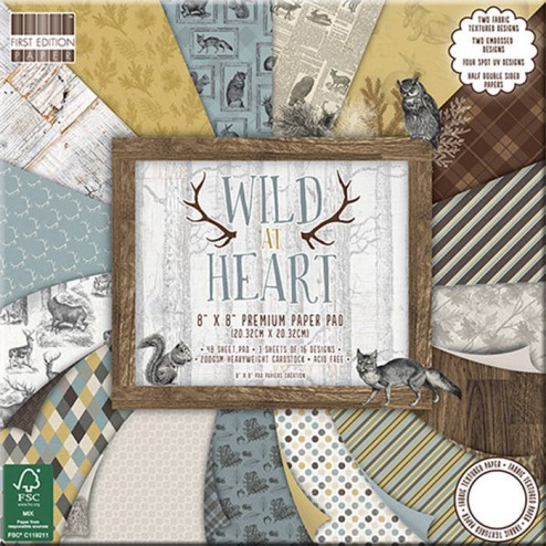 Papeles Scrapbooking - Wild at Heart (20 x 20)