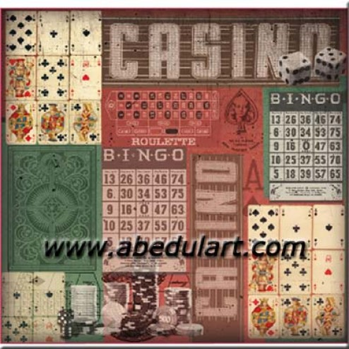 Fieltro estampado casino