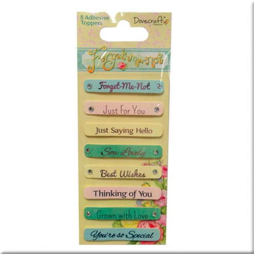 Frases adhesivas - Dovecraft Forget Me Not