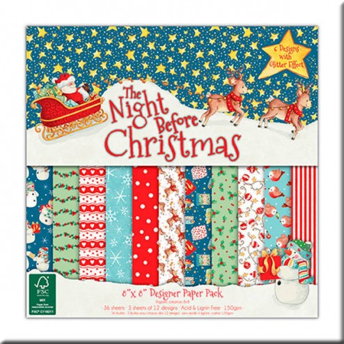 Papeles Scrapbooking - The Night Before Christmas (20 x 20)