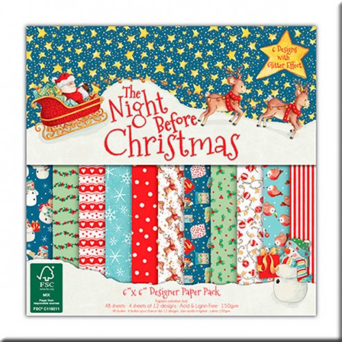 Papeles Scrapbooking - The Night Before Christmas (15 x 15)