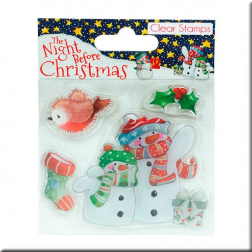 4 Sellos Muñeco de Nieve - The Night Before Christmas