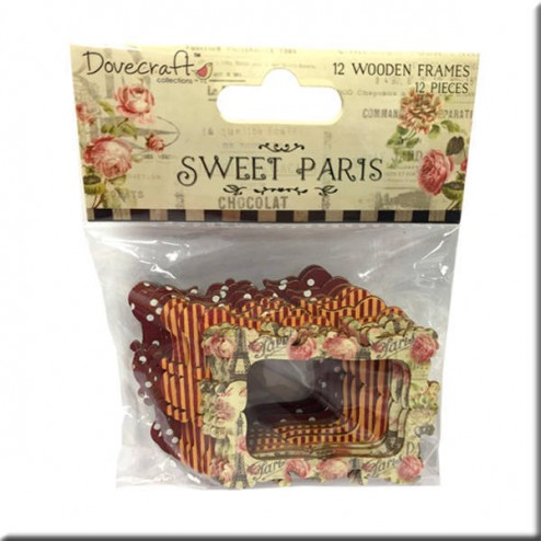 Marcos de madera decorados - Sweet Paris