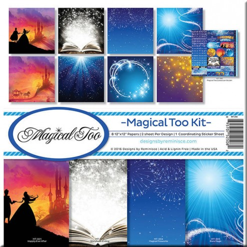 Set Papeles y Adhesivos Magical Too (30 x 30)